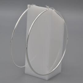 Italian Made - Sterling Silver Hoop Earrings, Silver wt. 8.00 Gms