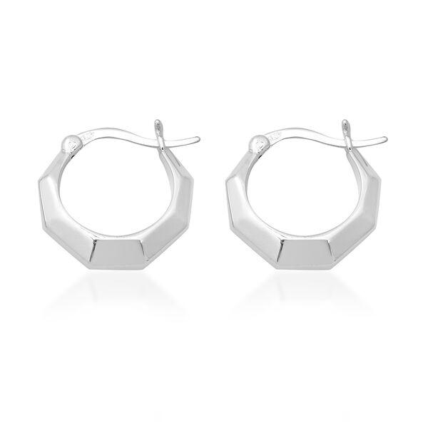 Hoop Earrings in Sterling Silver 5.76 Grams