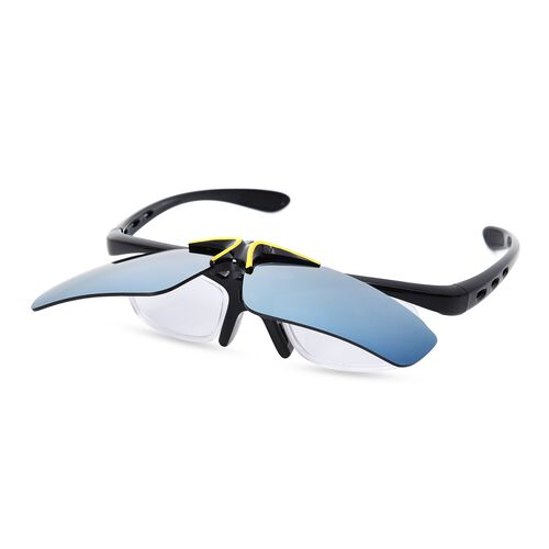 Set of 2 - Double-Layer Clamshell Design Reversible Sunglasses