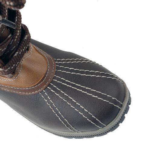 Faux Fur Lined Snow Boots (Size 5) - Brown & Cognac