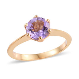 Rose De France (1.05 Ct) 14K Gold Overlay Sterling Silver Ring  1.250  Ct.