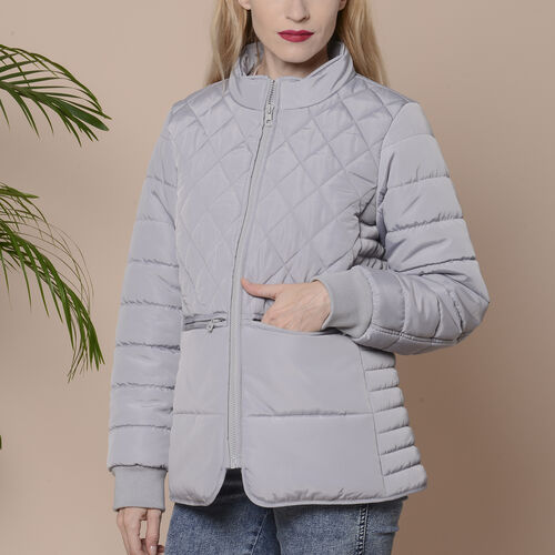 Winter Quilted Jacket with Removeable Faux Fur Neckline (Size: M, 14-16)