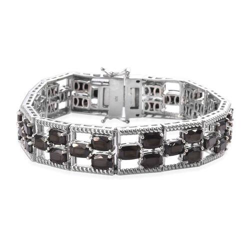 15 Carat Elite Shungite Tennis Bracelet in Platinum Plated Sterling Silver 7.5 Inch