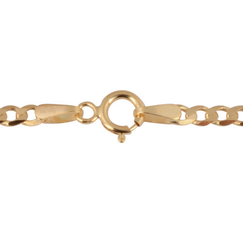 Hatton Garden Close Out-9K Yellow Gold Flat Curb Necklace (size 24), Gold wt. 4.23 Gms