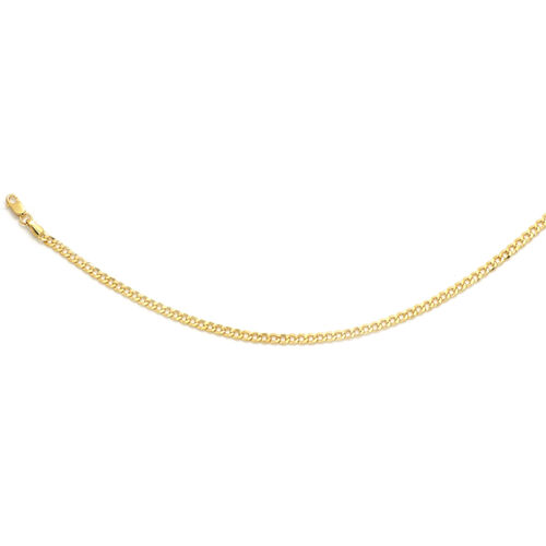Italian Made - 9K Yellow Gold Curb Necklace (Size 22)