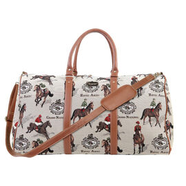 SIGNARE - Tapastry Collection -Racing Big Holdall with Strap                 (31 x 30 x 13.5 cms)