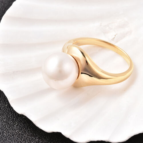 Edison Pearl Ring in Yellow Gold Overlay Sterling Silver