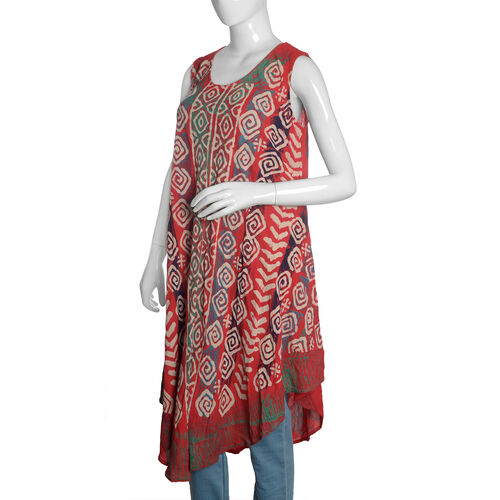 Cherry, Beige and Multi Colour Printed Apparel (Free Size)