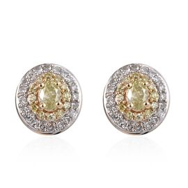 Diamond 9K Y Gold Earring  0.500  Ct.