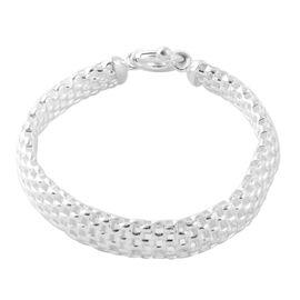 Italian Made Sterling Silver Mesh Bracelet (Size 7.5), Silver wt 12.40 Gms