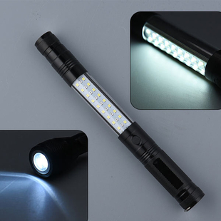 Multi Function LED Flex Flash Torch with Magnet (3xAAA Not included) - Black