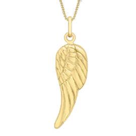 9K Yellow Gold Angel Wing Pendant