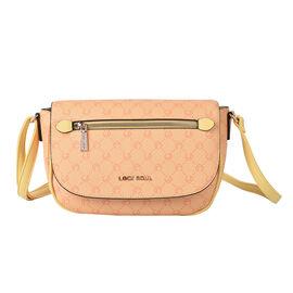 LOCK SOUL Crossbody Bag with Shoulder Strap (Size 26x23x10Cm) - Mustard