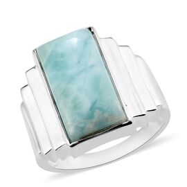 AA Larimar Ring in Sterling Silver 11.83 Ct, Silver wt. 7.92