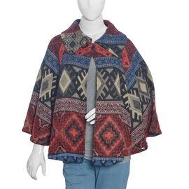 Multi Colour Geometrical Woven Pattern Jacket (Size 115x65 Cm)