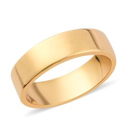 14K Gold Overlay Sterling Silver Band Ring, Silver wt. 3.00 Gms