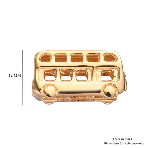 Charms De Memoire 14K Gold Overlay Sterling Silver Bus Charm