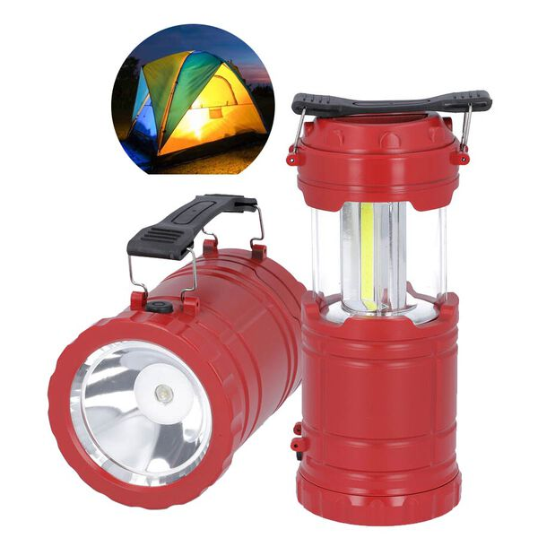 3 in 1 Flame Lantern with white LED Light, Flame Light and Flashlight (3xAA Battery Not Included) (S