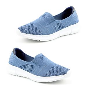 Heavenly Feet Holly slip on trainer - blue