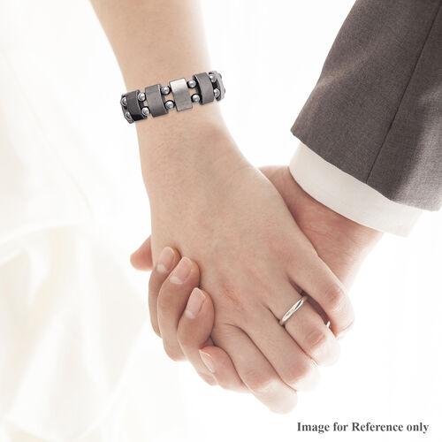 Hematite (Cush and Rnd) Stretchable Bracelet (Size 7) 186.50 Ct.