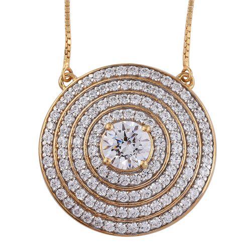 Limited Edition-J Francis - 14K Gold Overlay Sterling Silver (Rnd) Adjustable Necklace (Size 18) Mad