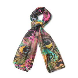 New Season- 100% Mulberry Silk Multi Colour Scarf (Size 180x100)