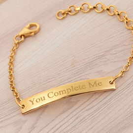 Personalise Engraved Bar Bracelet in Silver