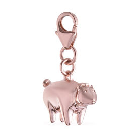 Rose Gold Overlay Sterling Silver Piglet Charm