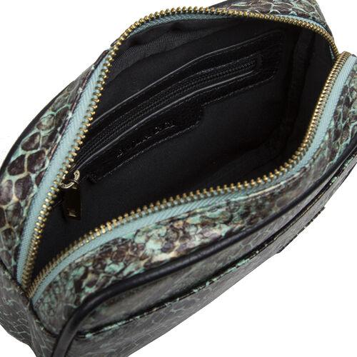 Bulaggi Collection Protea Snake Skin Print Crossbody Bag - Emerald Green