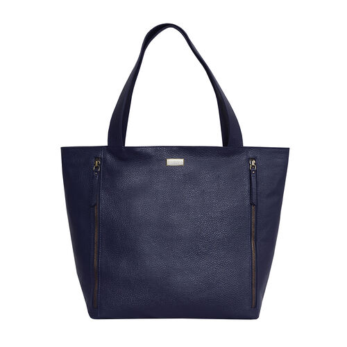 Assots London CORDER Pebble Grain Genuine Leather Tote Bag with Magnetic Closure (Size 45-33x11x32 C