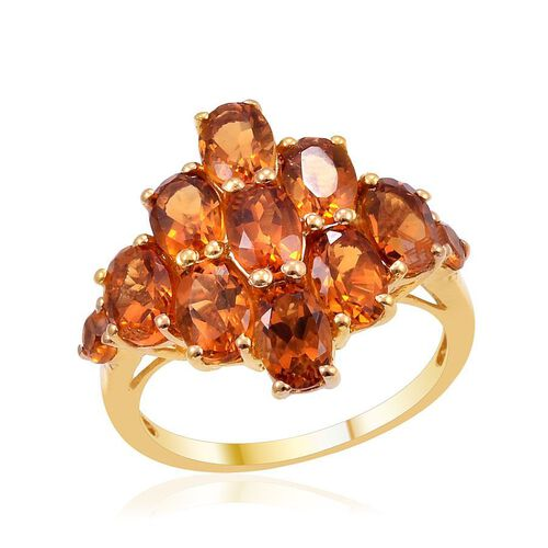 Madeira Citrine (Ovl) Ring in 14K Gold Overlay Sterling Silver 3.750 Ct.