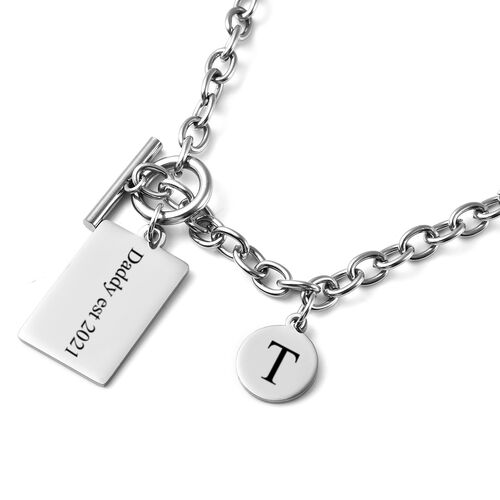 Personalise Engraveable Dog tag and Disc in Stainless Steel, 22 Inches