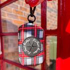 Pet Pooch Boutique- Alfies Plaid Poo Bag Holder (Size 7X4X5 Cm) - Red & White