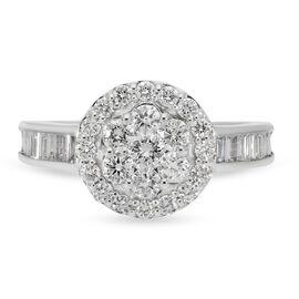 RHAPSODY 950 Platinum IGI Certified Diamond (VS/E-F) Ring 1.00 Ct.