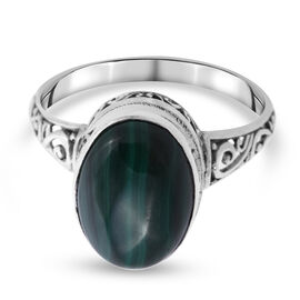 Royal Bali Collection - Malachite Ring in Sterling Silver 7.50 Ct.
