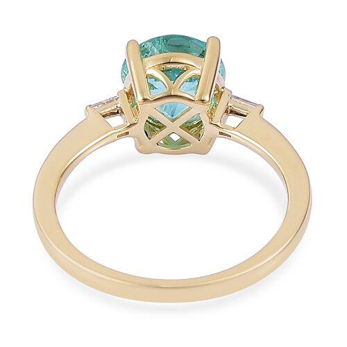 ILIANA 18K Yellow Gold 2.70 Ct AAA Boyaca Colombian Emerald Ring  with Diamond SI G-H