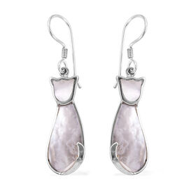 Royal Bali Mother of Pearl Drop Earrings in Sterling Silver With Hook