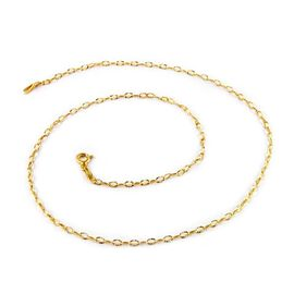 14K Gold Overlay Sterling Silver Diamond Cut Chain (Size 30), Silver wt 3.00 Gms