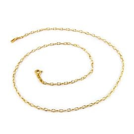 Diamond Cut Chain in 14K Gold Plated Sterling Silver 3 Grams 30 Inch