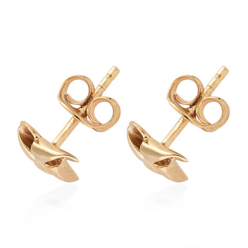 14K Gold Overlay Sterling Silver Pinwheel Stud Earrings (With Push Back)