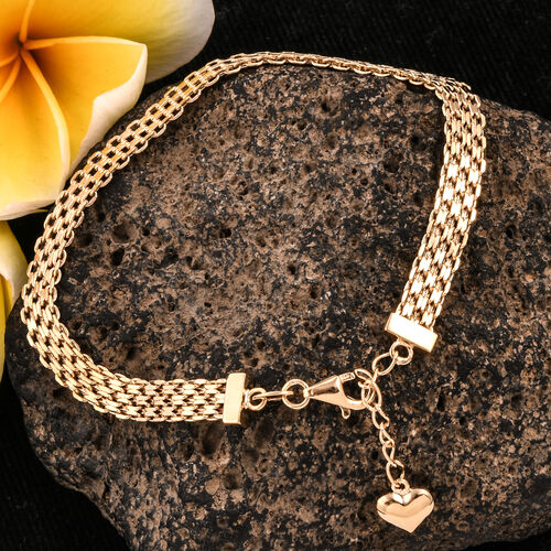Royal Bali Collection 9K Yellow Gold Bracelet (Size 7 and 1 inch Extender) Gold Wt 3.27 Gms