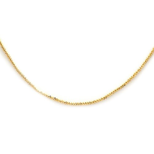 Italian Made 9K Yellow Gold Rock Necklace (Size 24)
