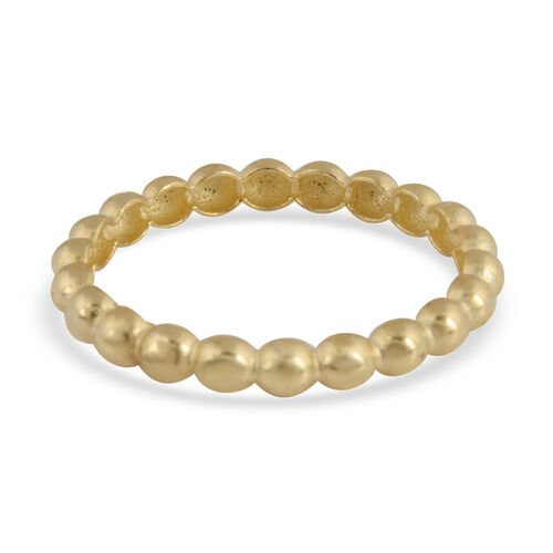 Vicenza Collection- 9K Yellow Gold Beaded Band Ring