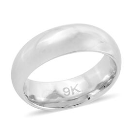 Royal Bali Collection 9K White Gold Band Ring, Gold wt 1.70 Gms.