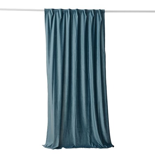 Luxury Edition - Extremely Soft Short Pile Panel Curtain with Hidden Loops in Teal Colour (Size in Cm 230 Drop x140 Width)