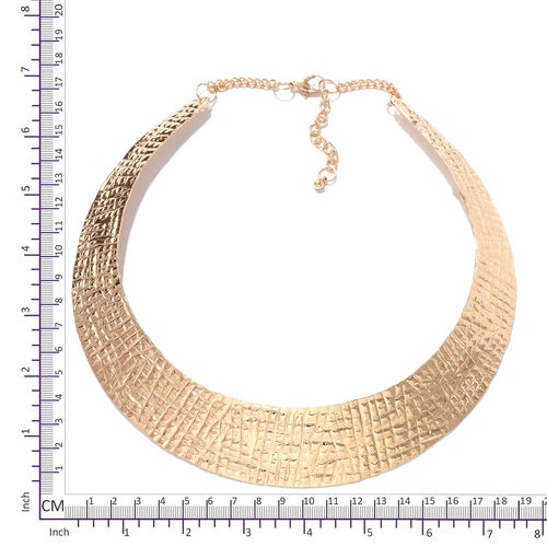 One Time Deal-Choker Necklace (Size 43+5 Cm) in Rose Gold Plating
