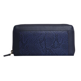 Assots London Animal Print Leather Purse (Size 21x12x2cm) - Navy