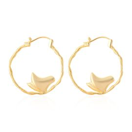 Isabella Liu Butterfly Reborn Collection Hoop Earrings in Gold Plated Silver