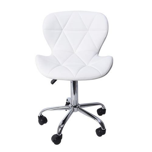 Office Desk Chair with 360 Degree Swivel & Adjustable Height - (Size W50xH50xL77cm) White