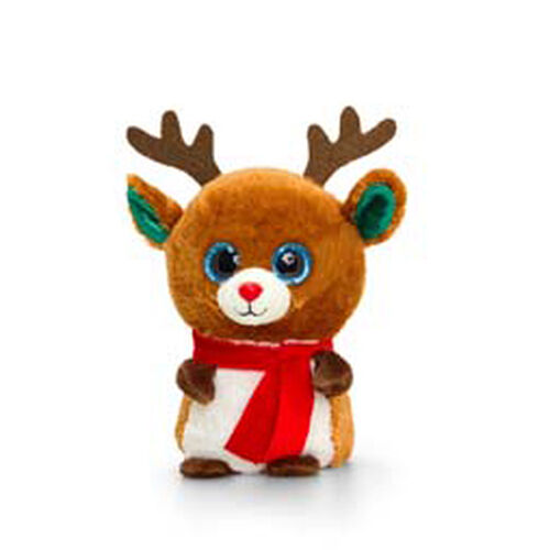 Reindeer with Red Scarf Soft Toy 10cm
